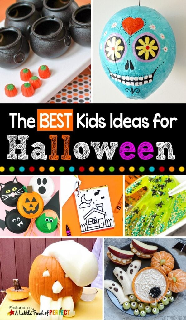 The Best Halloween Kids Activities: Find your next favorite Halloween activity for kids to do at home or school parties including games, crafts, free printables, and more. #halloween #kidsactivities