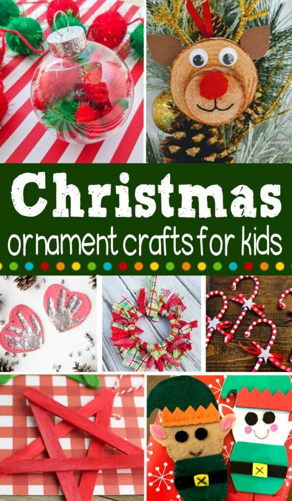 15+ Homemade Christmas Ornament Crafts for Kids #Christmascraft #Christmas #craft #kidscraft