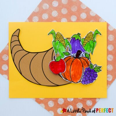 Cornucopia Thanksgiving Kids Craft and Free Template
