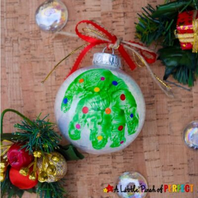 How to Make a Handprint Tree Christmas Ornament