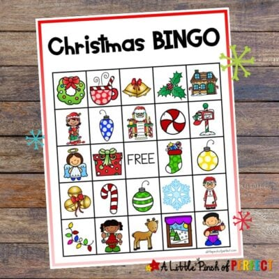 Christmas BINGO Free Printable Game for Family Fun