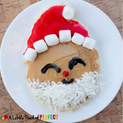 How to Make Santa Toast: Cute Christmas Food for Kids