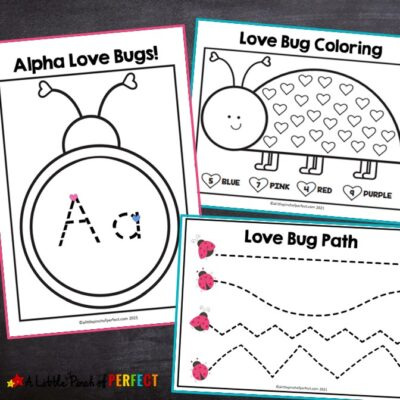 Love Bug Free Printable Valentine Activity Pack for Kids