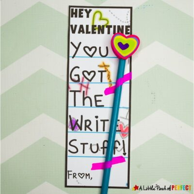 You Got the Write Stuff: Valentine's Pencil Card Free Printable
