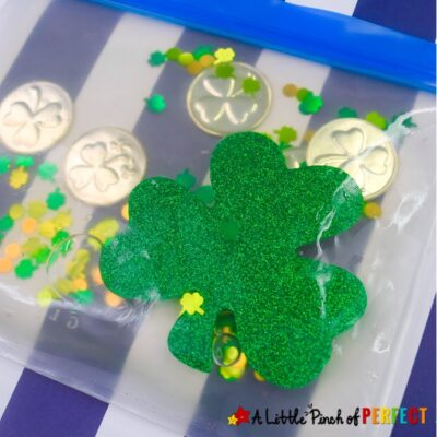 St. Patrick's Day Shamrock Sensory Bag for Kids