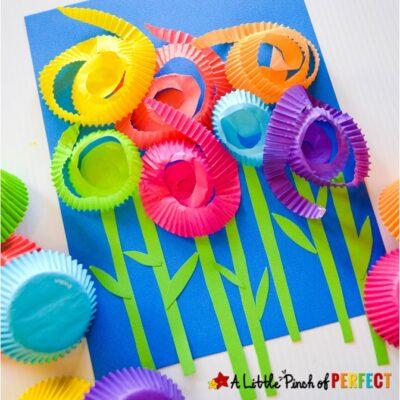 Flower Cupcake Liner Kids Craft
