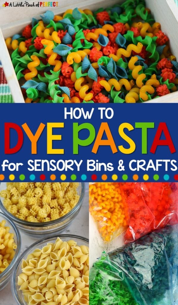 Follow our directions to make colorful dyed pasta that's perfect for your kids to play with in sensory bins or to use for crafts and other kid activities.