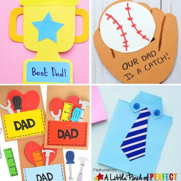 The Best DIY Father's Day Card Crafts for Kids: Check out this list of amazing Father's Day card ideas to help your kiddos to make their dad's and grandpa's day super special this year