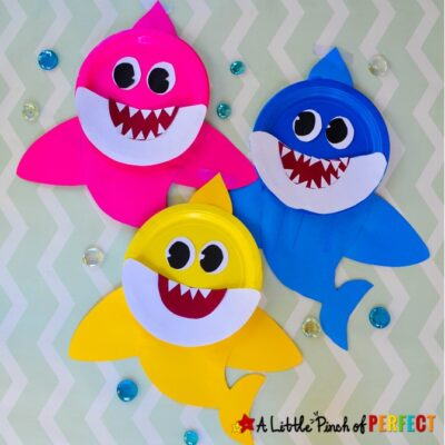 Baby Shark Paper Plate Kids Craft and Free Template