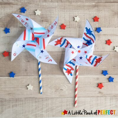 Fourth of July Pinwheel Kids Craft and Free Template
