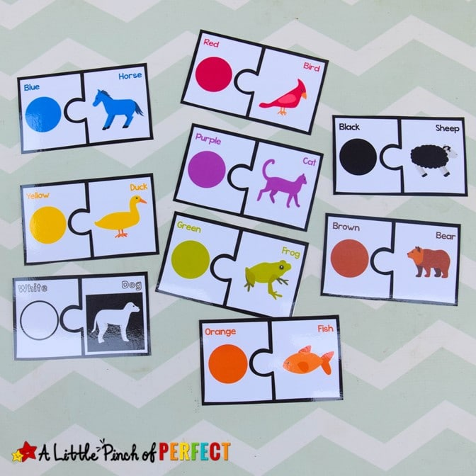Brown Bear Printable Activity Pack: 150+ pages full of fun and engaging activities for preschool and kindergarten including crafts, language arts, math, colors, and more! #brownbear #ericcarle #preschool #kindergarten #homeschool