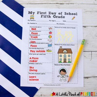 First Day of School Interview Questions: Free Printable for Every Grade