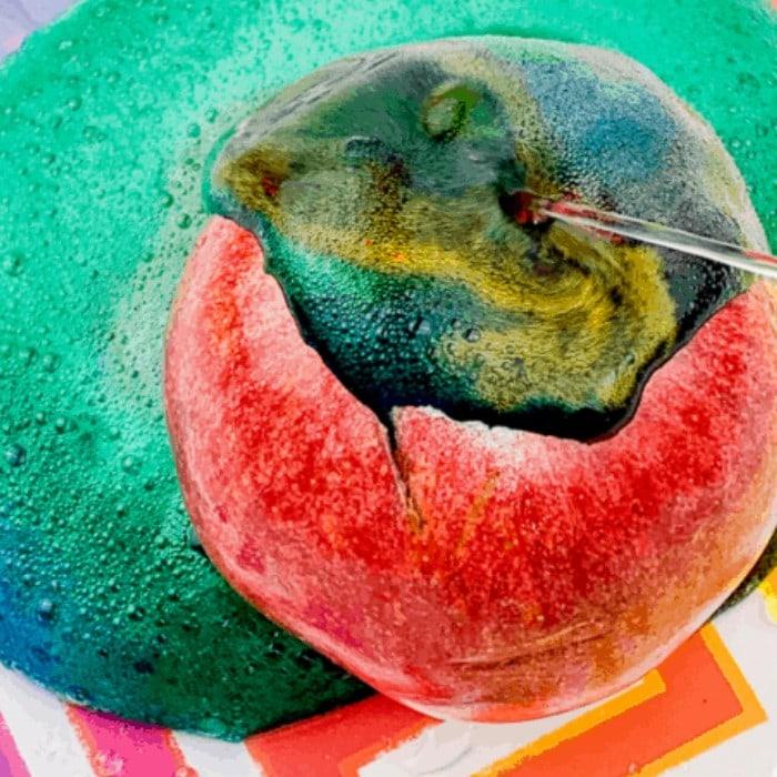 Apple Volcano Science Experiment
