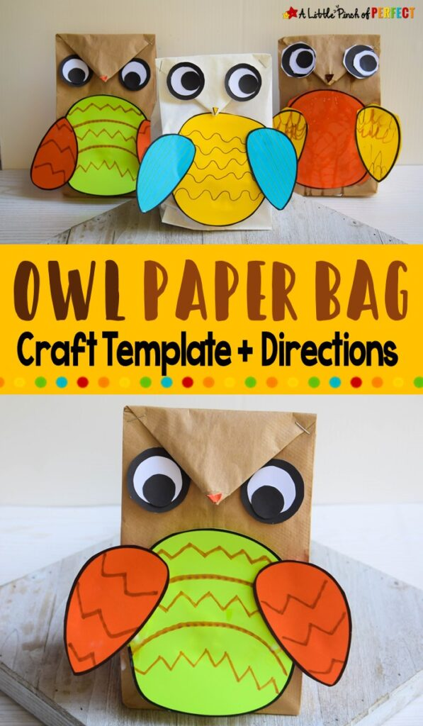 Owl Paper Bag Craft Template
