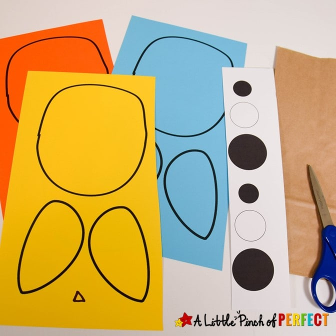 Paper Bag Owl Craft for Template for Kids