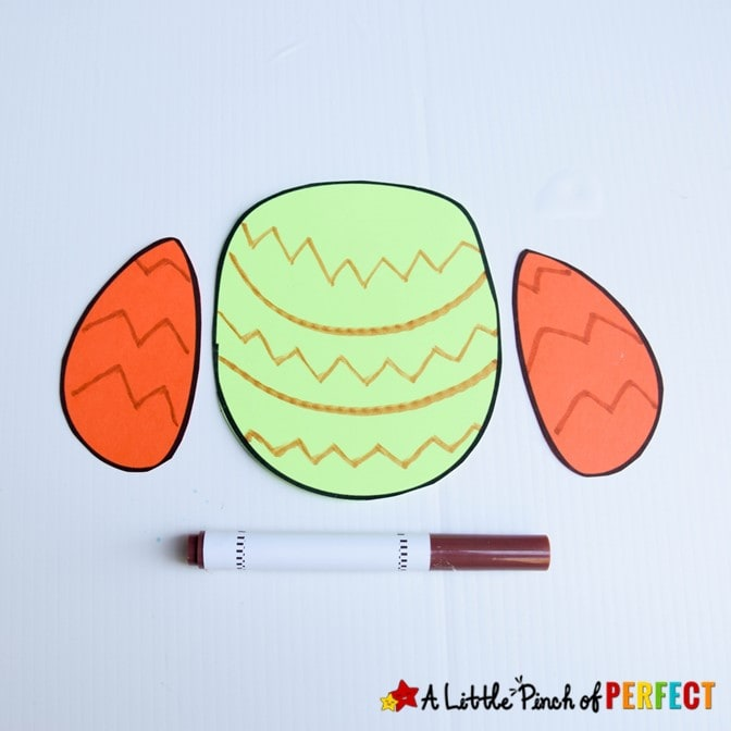 Owl Craft Tummy and Wings template