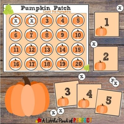 Pumpkin Patch Counting: Free Printable Math Activity