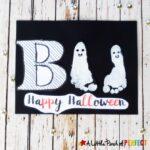 Boo Ghost Kids Halloween Footprint Craft
