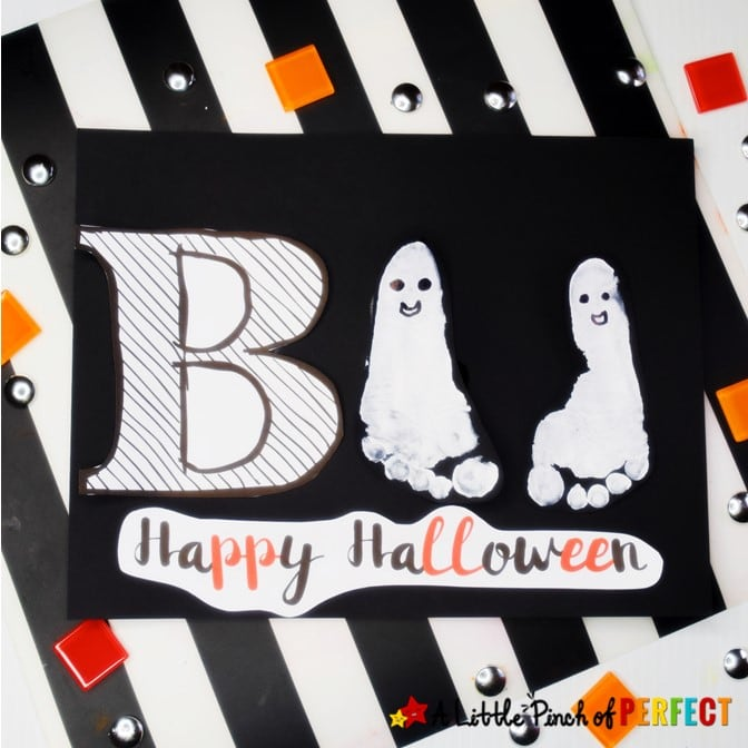 Ghost Footprint Halloween Kids Craft