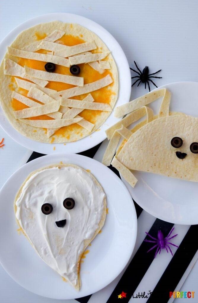 Halloween Food Quesadillas