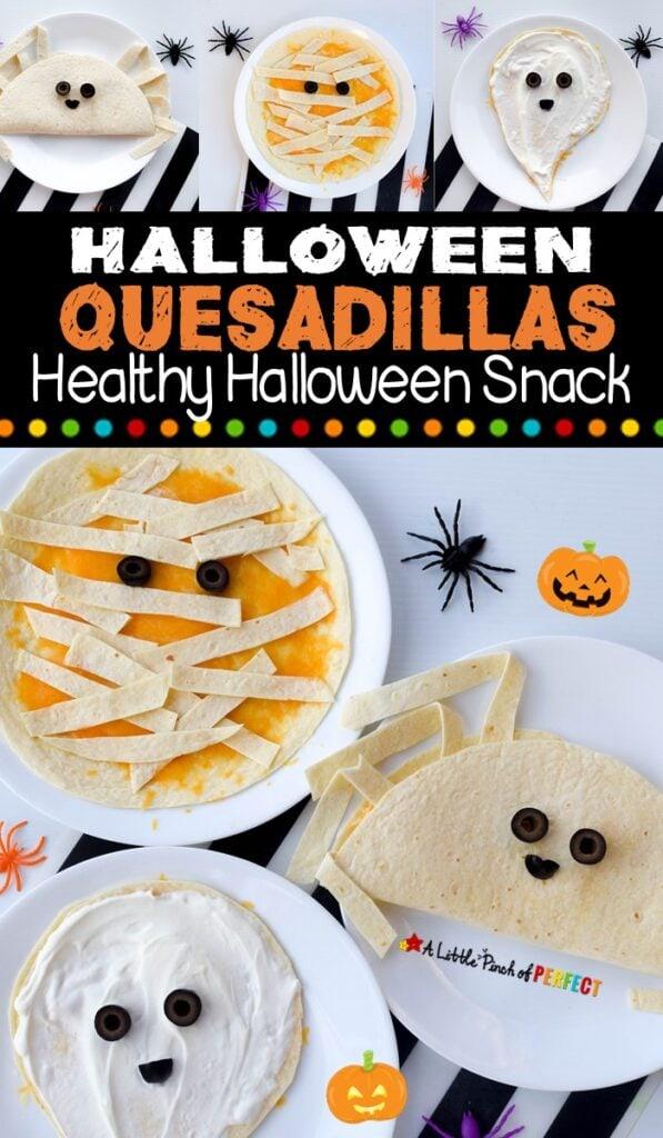 Halloween Kid Food Quesadillas mummy ghost spider