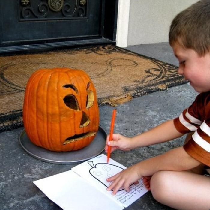Rotting Pumpkin Science Experiment