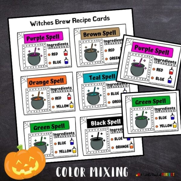 Witches Brew Color Recipe Cards