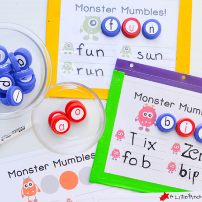 Monster Mumbles Phonics Game and Free Printable to Make Learning Fun!