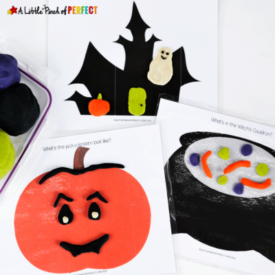 Halloween Playdough Mats Free Printable