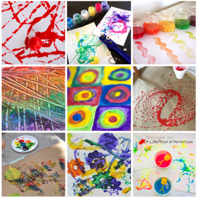30+ Fun Ways to Paint with Kids (Process Art Ideas)