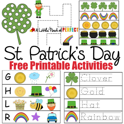 St. Patrick's Day Free Printable Activities