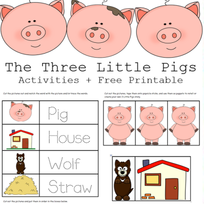 The 3 Little Pigs Activities + Free Printables