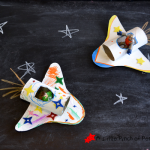 Cardboard Tube Space Shuttles & Happy Handmade Book Review