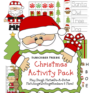 Free Christmas Printable Pack & Learning Printables for Kids