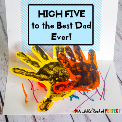 Give Me A High Five Handprint Father's Day Card