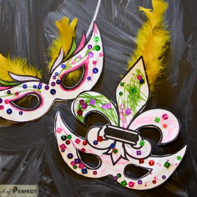 Mardi Gras Masks-Kids Activity (Free Printable with 2 masks)