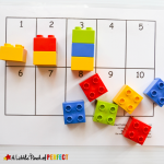 10 Frames Math with Legos Activities for Preschoolers