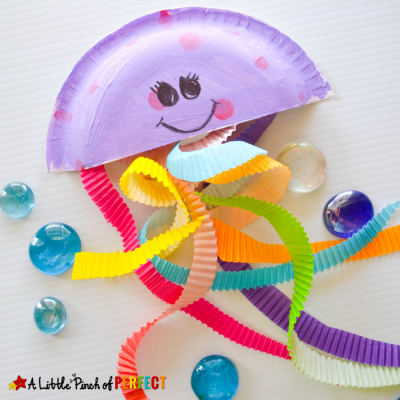 Jiggling Jellyfish Cupcake Liner Craft for Kids
