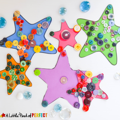 Starfish Ocean Craft for Kids that's Cute as a Button