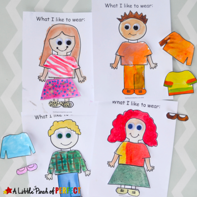 About Me: What I Like to Wear Craft and Free Template for Back to School