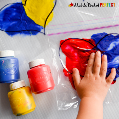 Mix 'n Squish Hearts: Valentine's Day Sensory Bags to Explore Color