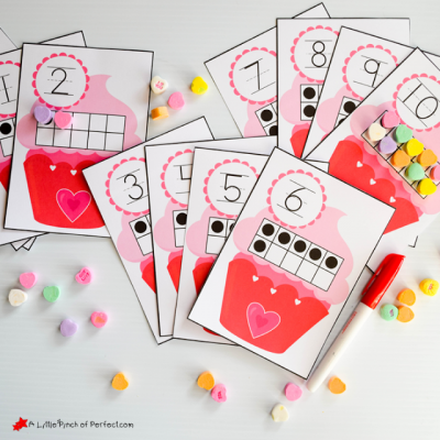 Free 10-Frames Valentine's Day Math Printables