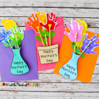 Adorable Mother's Day Handprint Flower Craft and Free Template