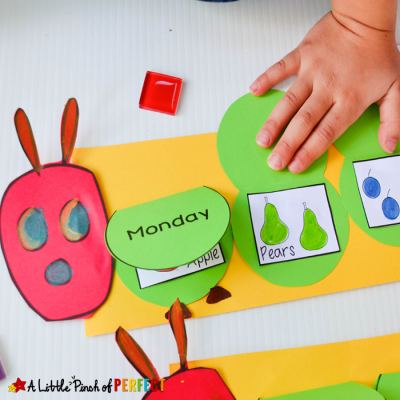 Hungry Caterpillar Flap Book Craft and Free Template