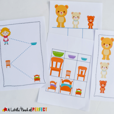 Goldilocks and the Three Bears Free Printables