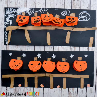 5 Little Pumpkins Flap Book Craft and Free Template